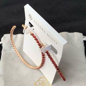 Kendra Scott Gold & Jade LG Hoop Earrings NWT